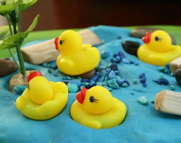 Duck Pond Play Dough