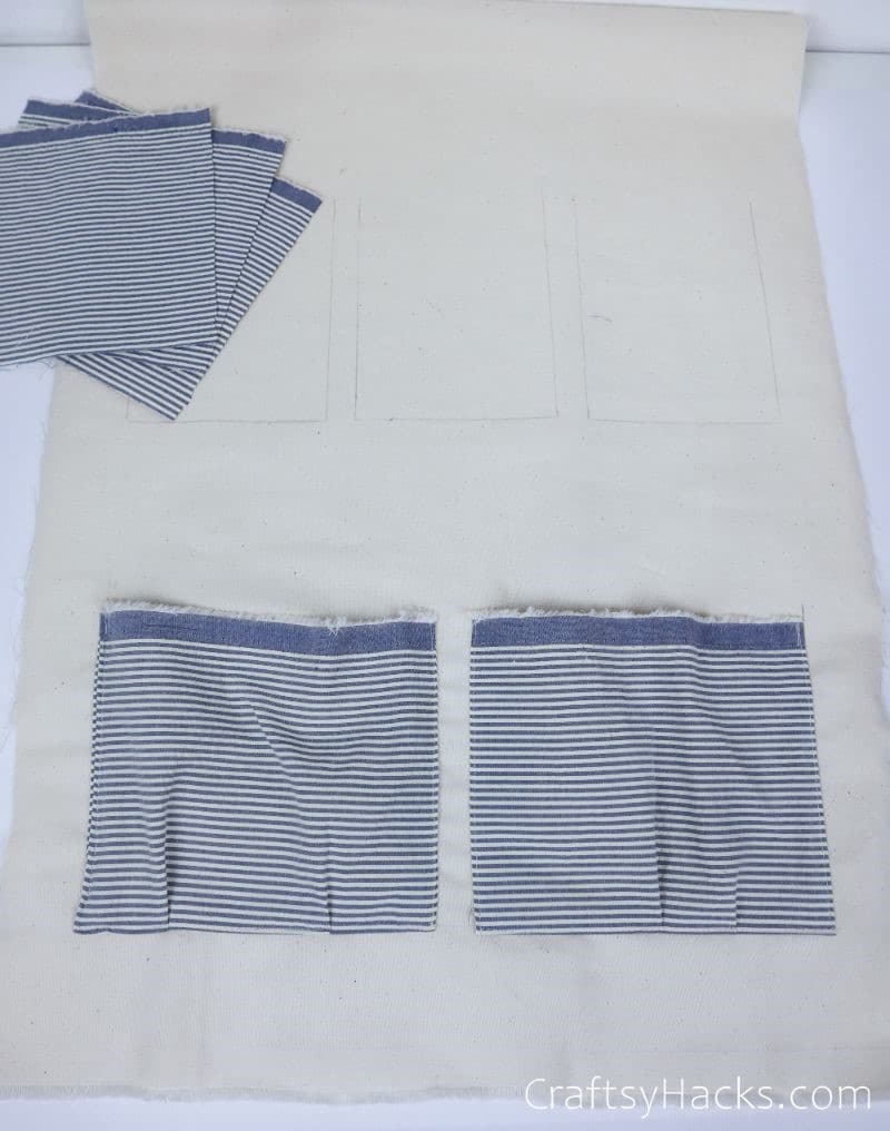 two fabric pockets