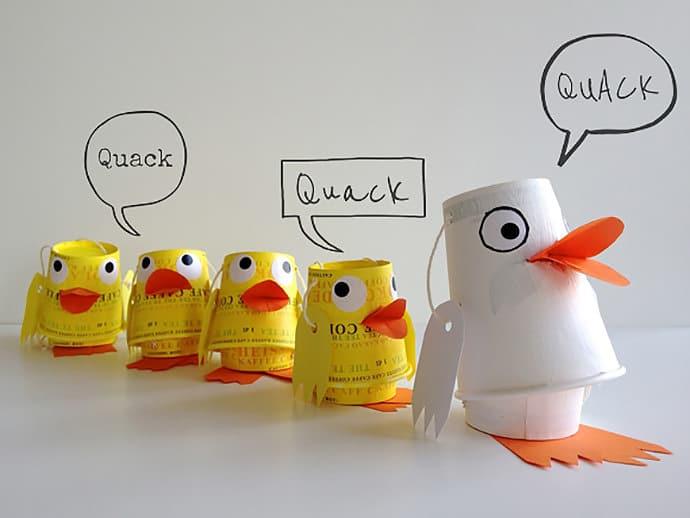 Paper Cup Ducks