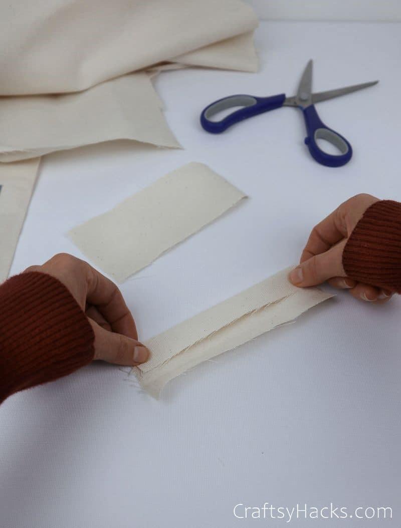 folding fabric piece