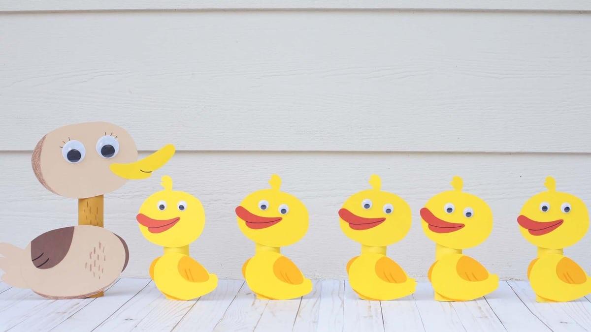 Paper Duck Family