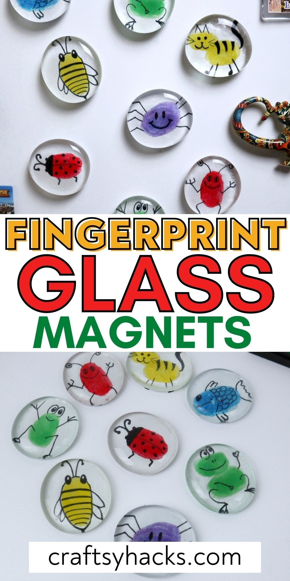 fingerprint glass magnets pinterest pin