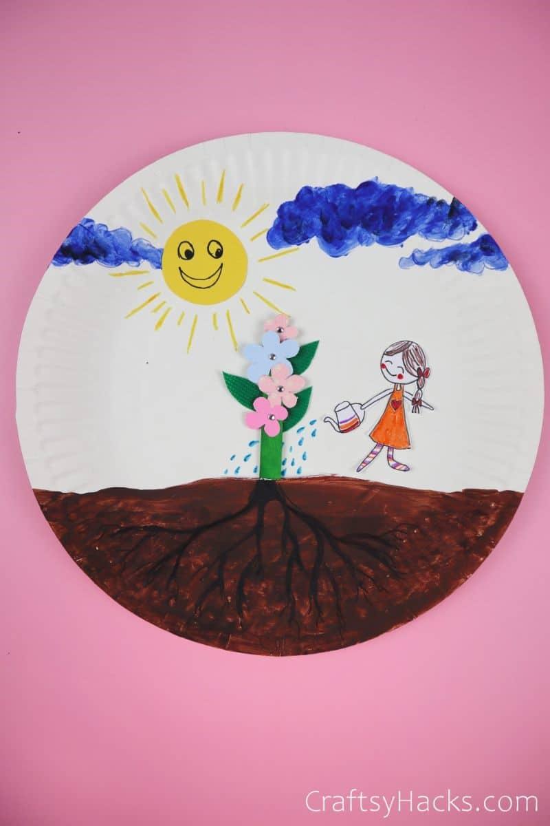 kids paper plate DIY