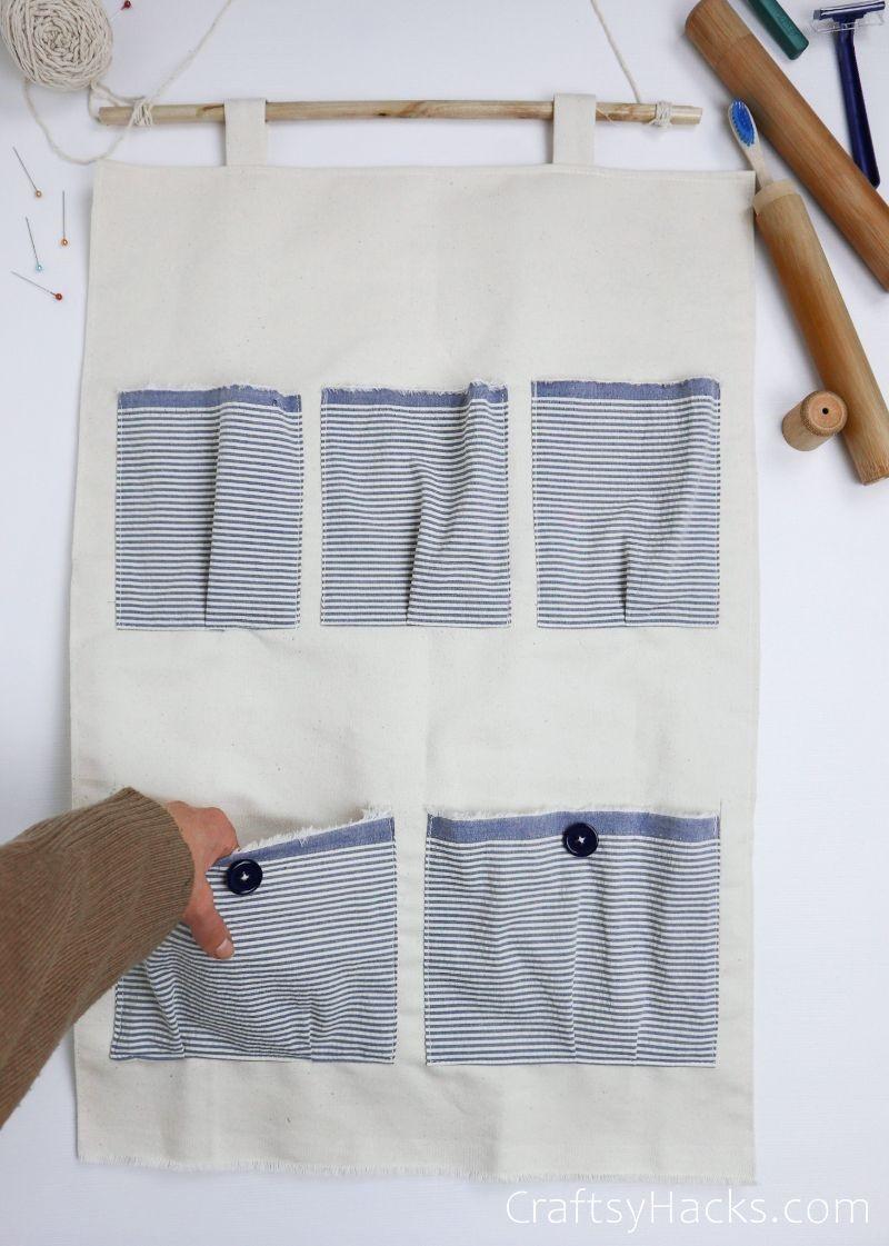 DIY organizer with pockets