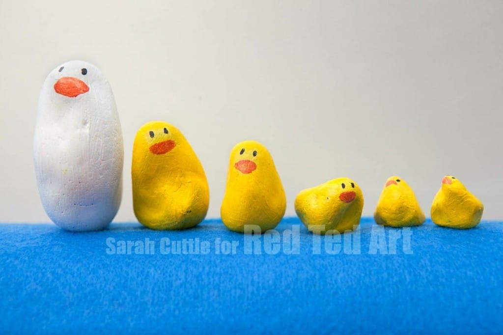Five Little Ducks Nursery Rhyme Rocks