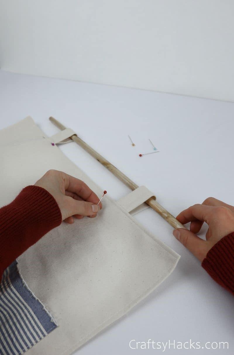 pinning organizer straps