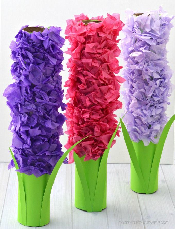 Paper Roll Hyacinths