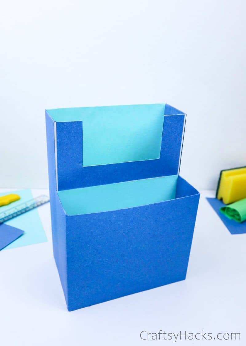cereal box organizer on table
