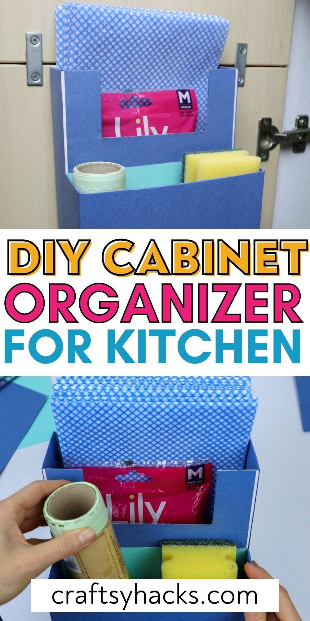diy cabinet organizer for kitchen pinterest pin