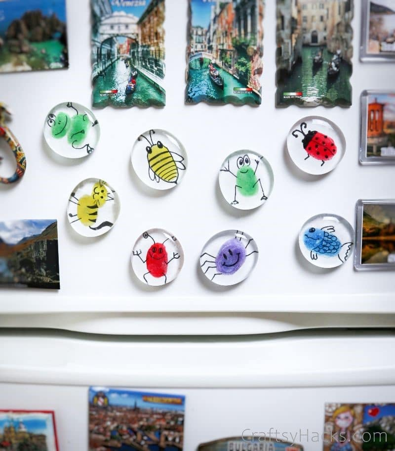 fingerprint magnets on fridge