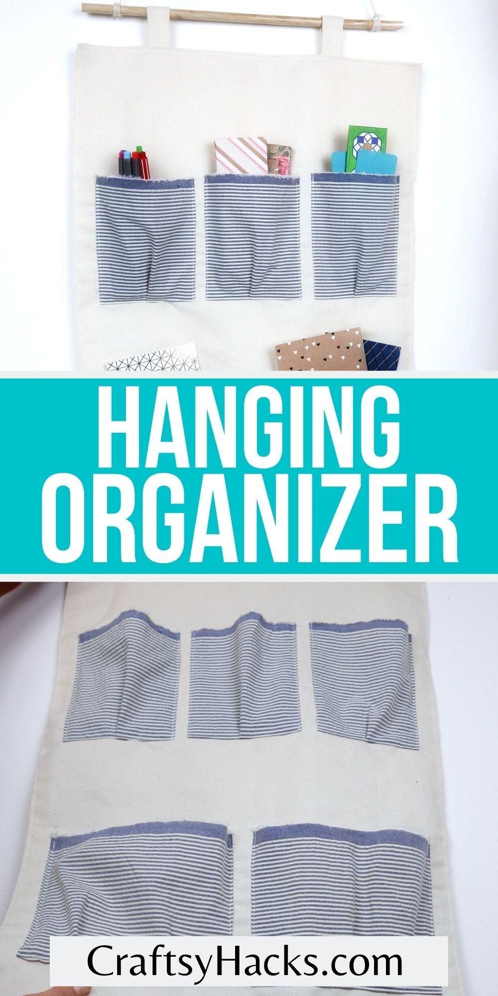 hanging organizer pinterest pin