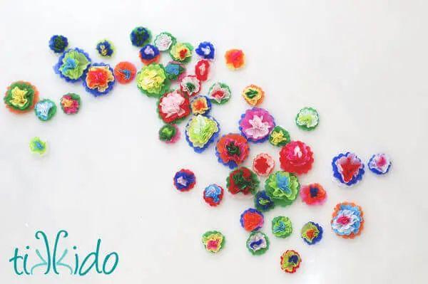 Mini Tissue Paper Flowers