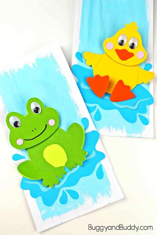 Splashing Duck Paper Craft