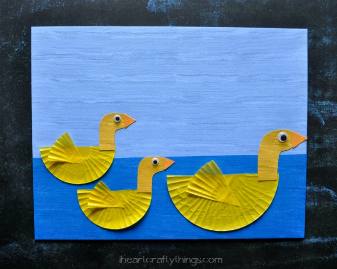 Cupcake Liner Duckies