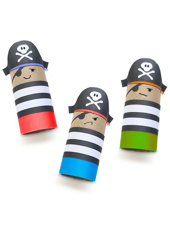 Karton Roll Pirate Craft