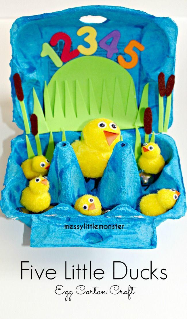 Five Little Ducks Egg Carton