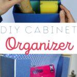 diy cabinet organizer pinterest pin