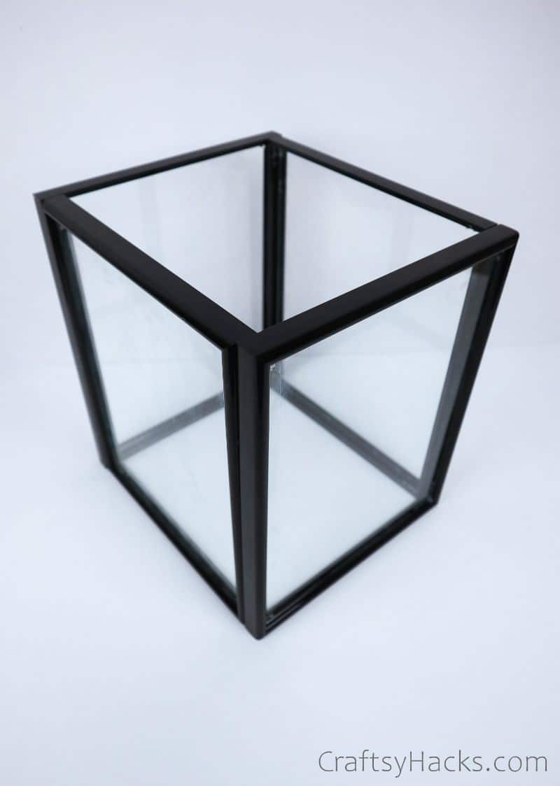 completed glued frame cube