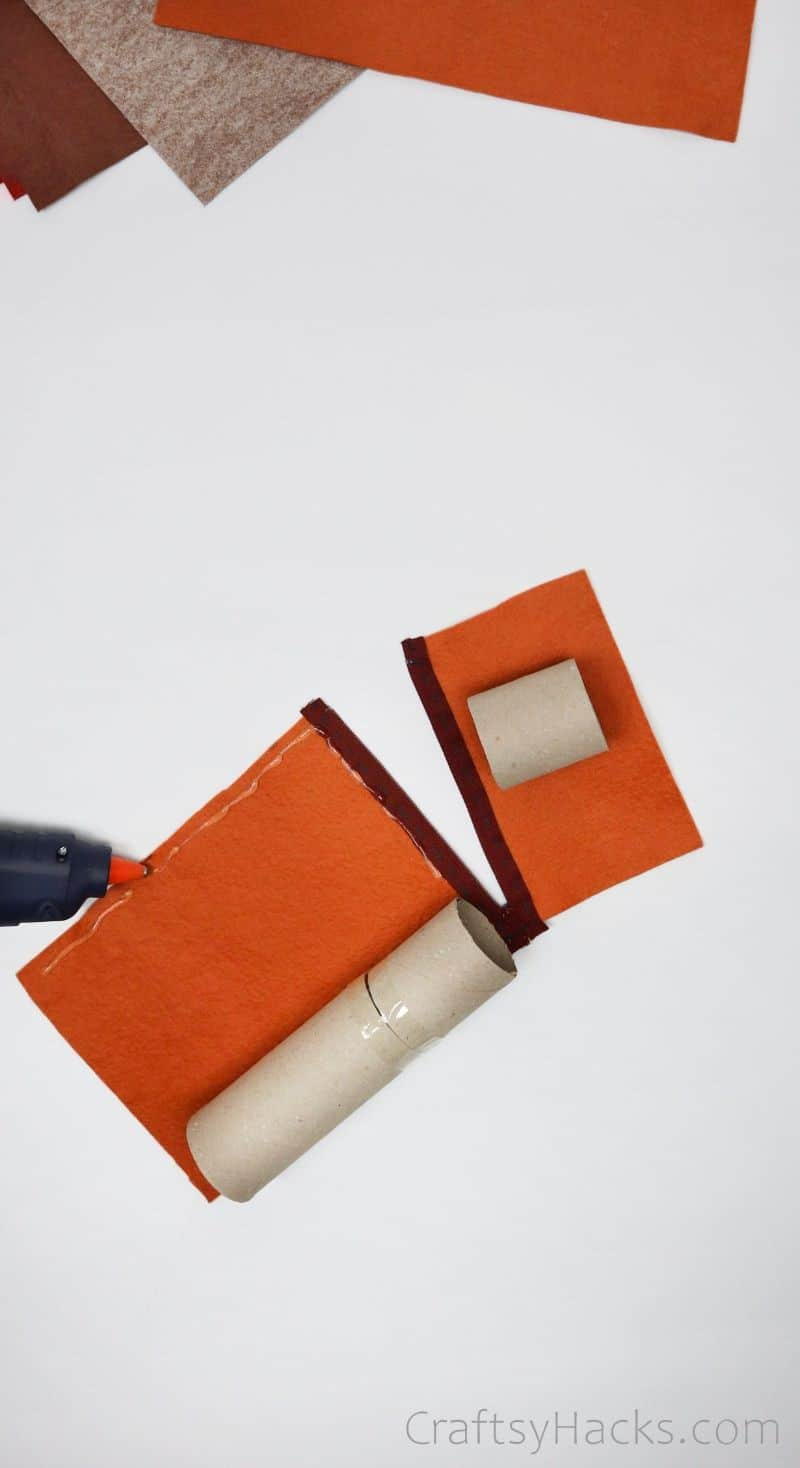 hot glueing felt sheet