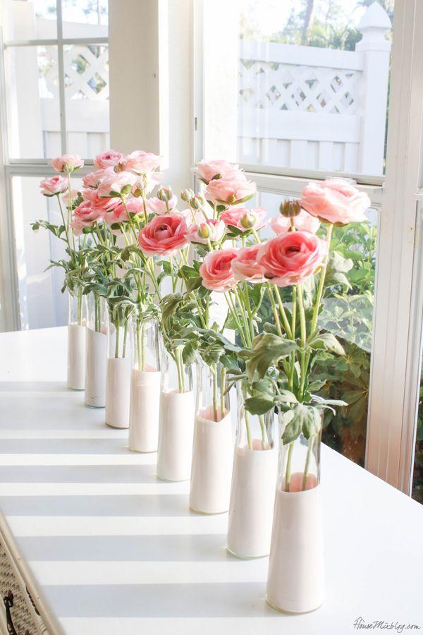 Dip Dyed Spring Vases