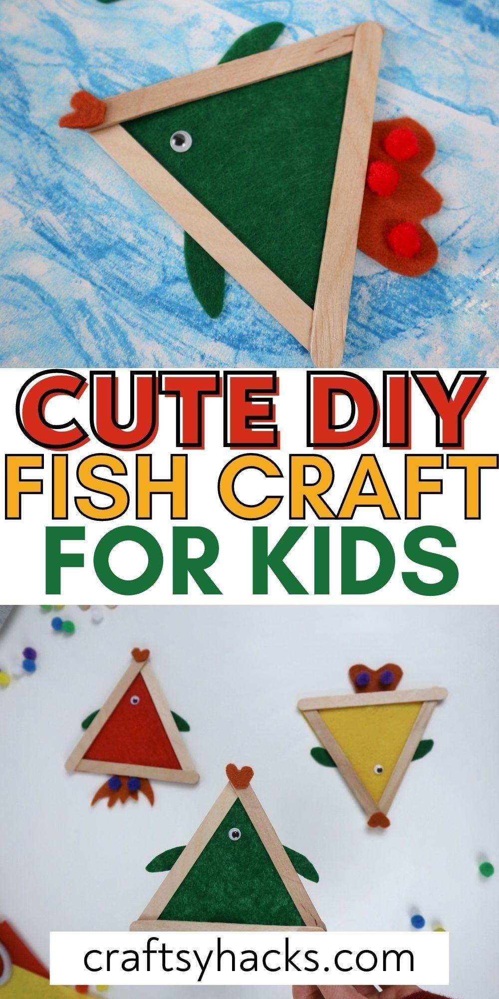 cute diy fish craft for kids