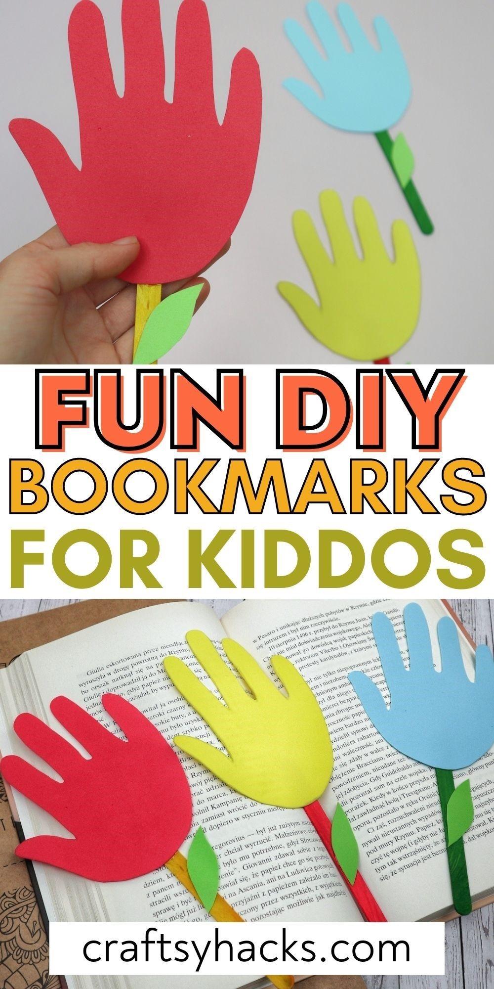 fun diy bookmarks for kiddos pin