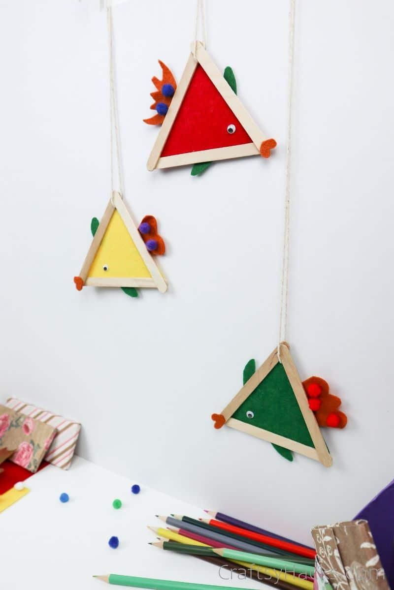 3 hanging fish crafts