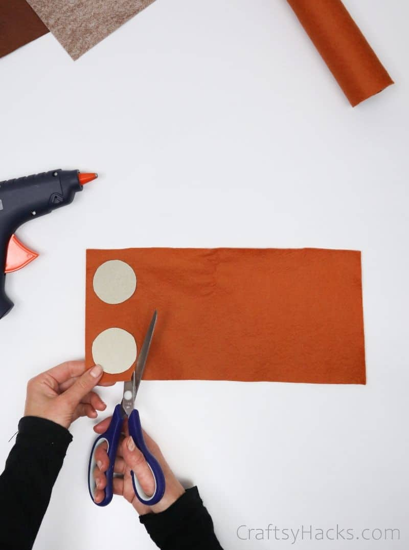 cutting out pencil case lids
