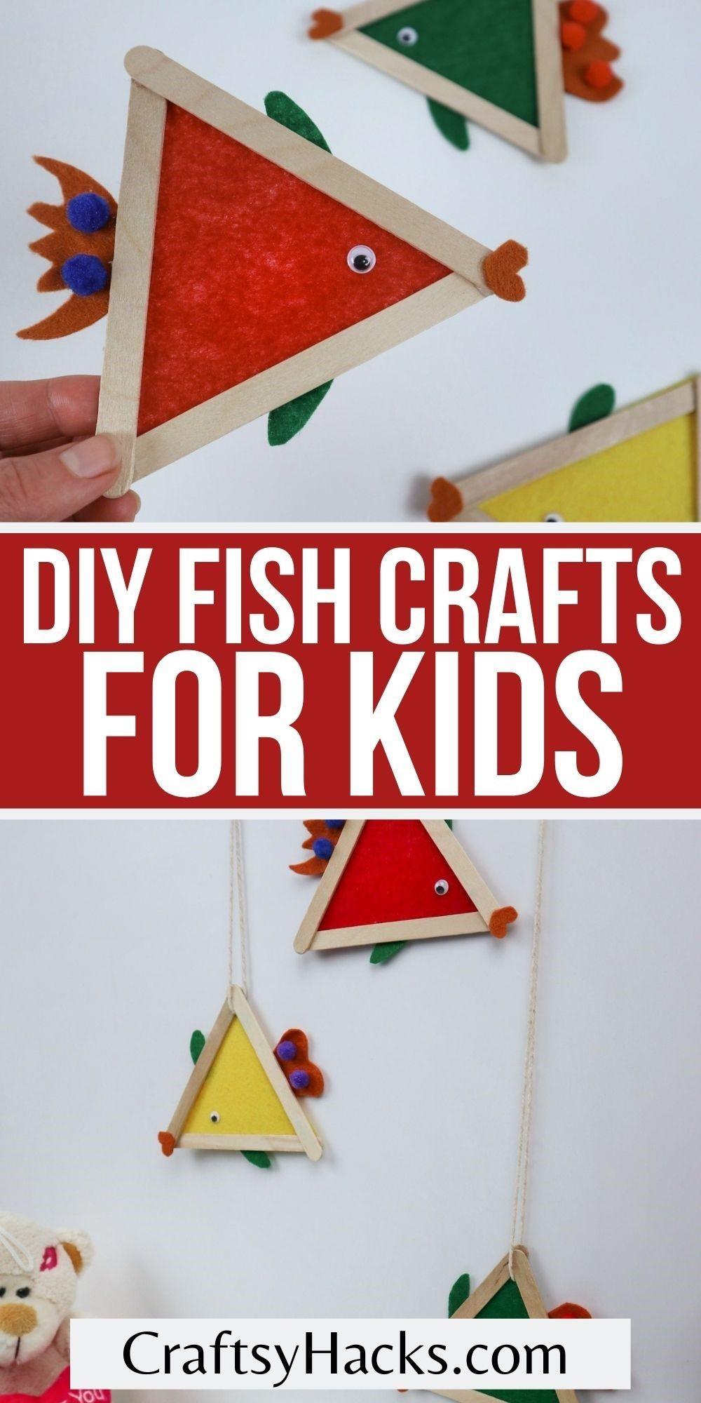 diy fish crafts for kids pin