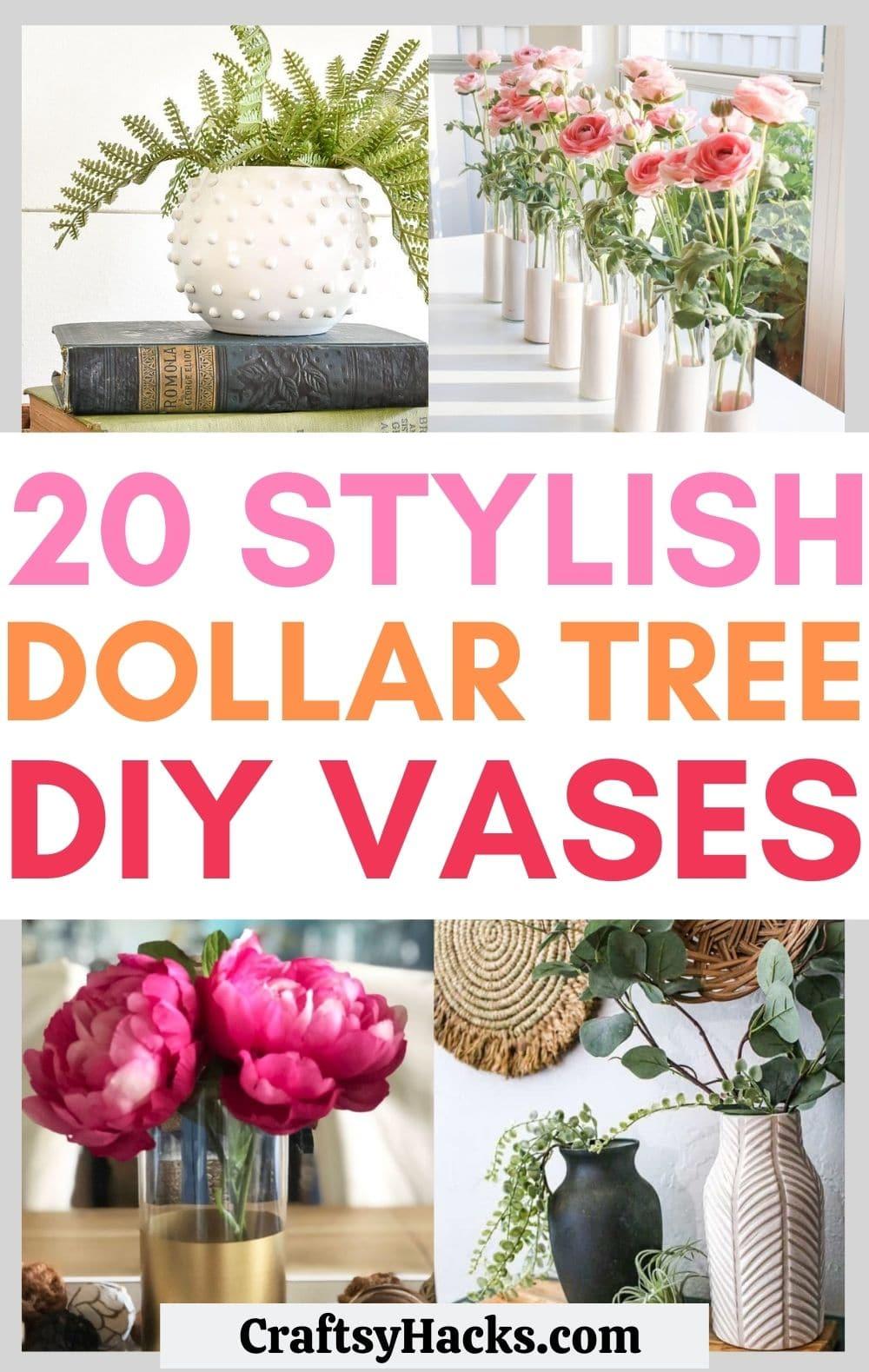 diy dollar tree vases