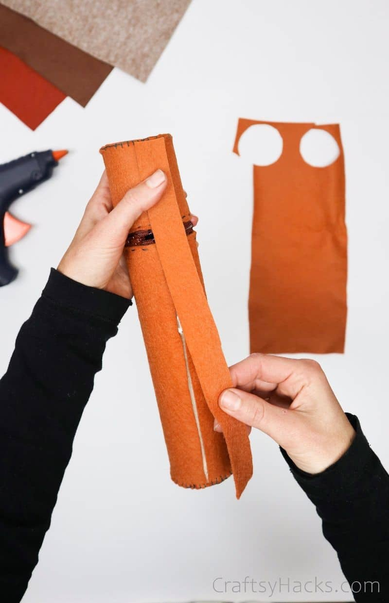 glueing back to pencil case