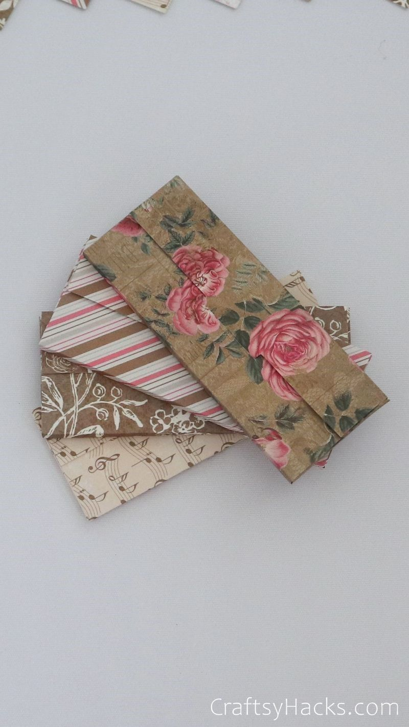 finished floral paper envelopes