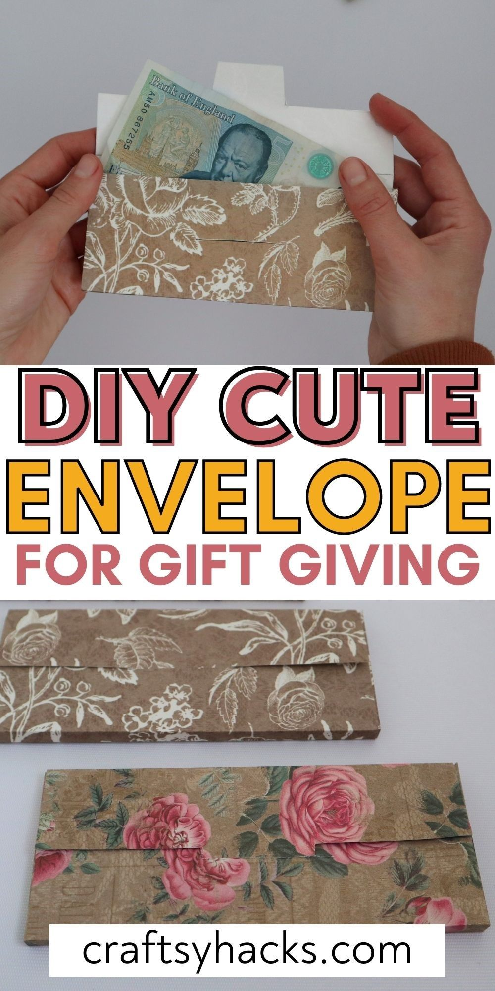 diy cute envelope for gift giving