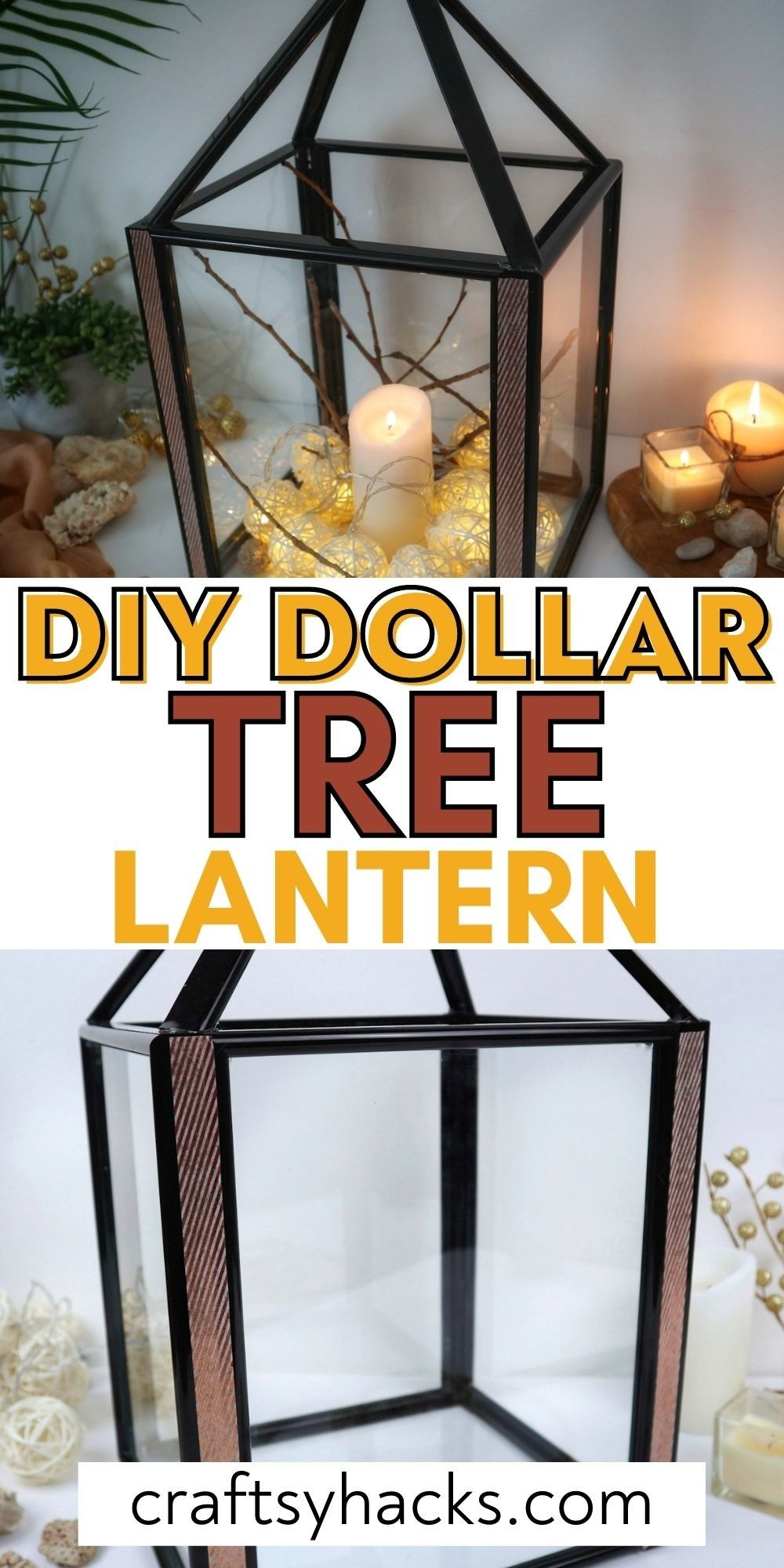 DIY dollar tree lantern