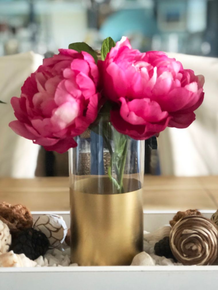 Dollar Tree Gold Dipped Vases