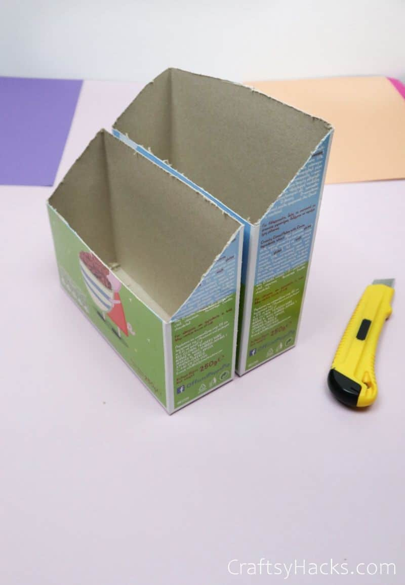 cut cereal boxes with box cutter