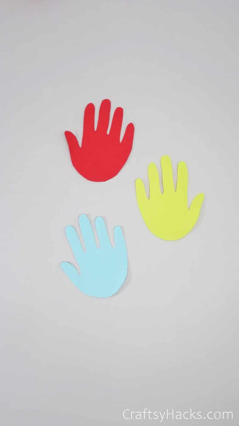 3 paper handprints