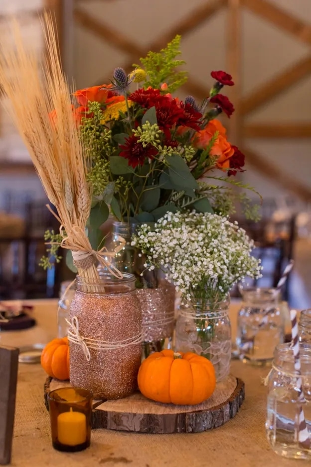 Vibrant Fall-Themed Centerpiece