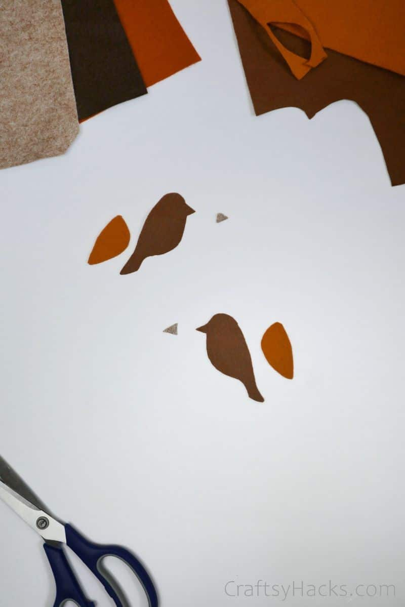 bird felt cut outs