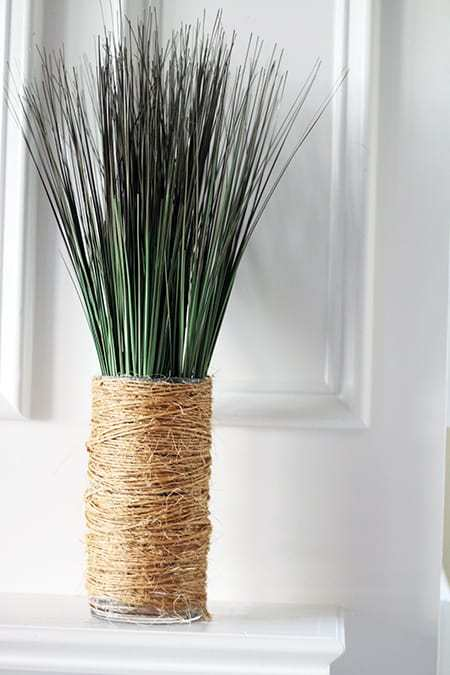 Twine-Wrapped Vase