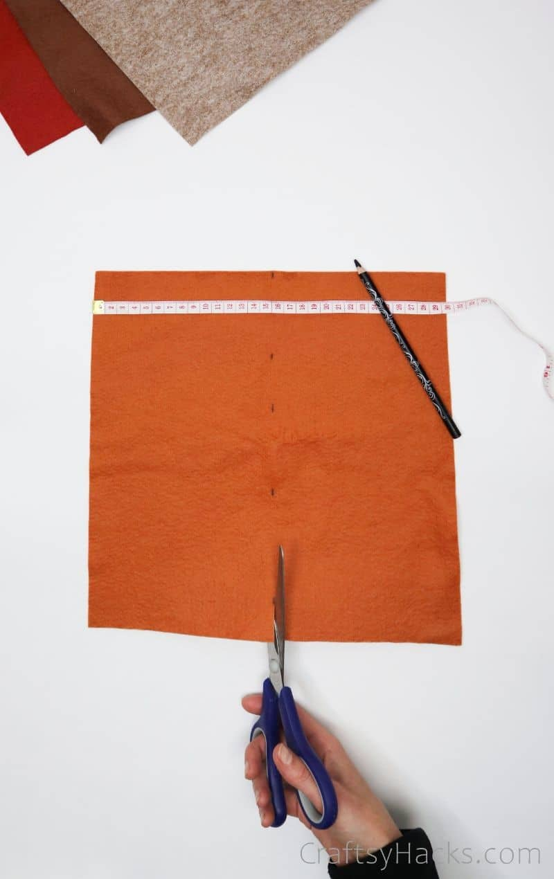 cutting felt sheet