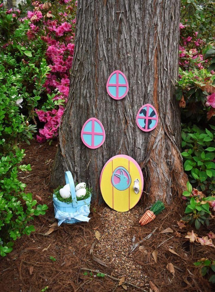 DIY Easter Bunny Garden Hideaway