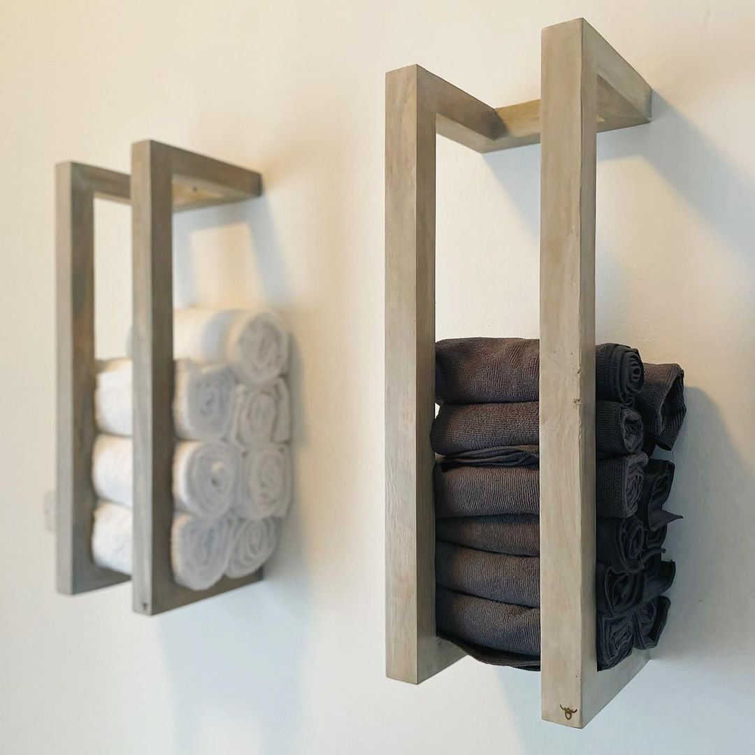 Farmhouse-Inspired Towel Racks