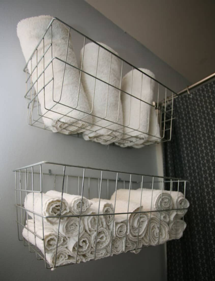 Simple Wire Basket Shelves