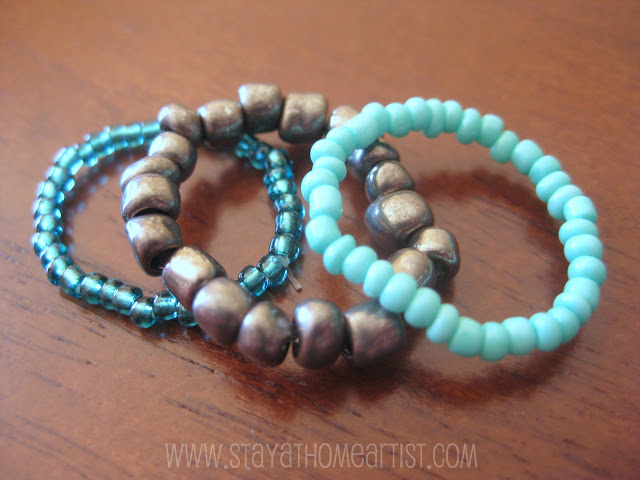 Stretchy Stackable Bead Rings
