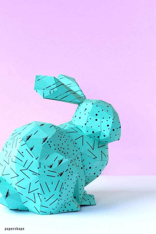 3D Paper Easter Bunny