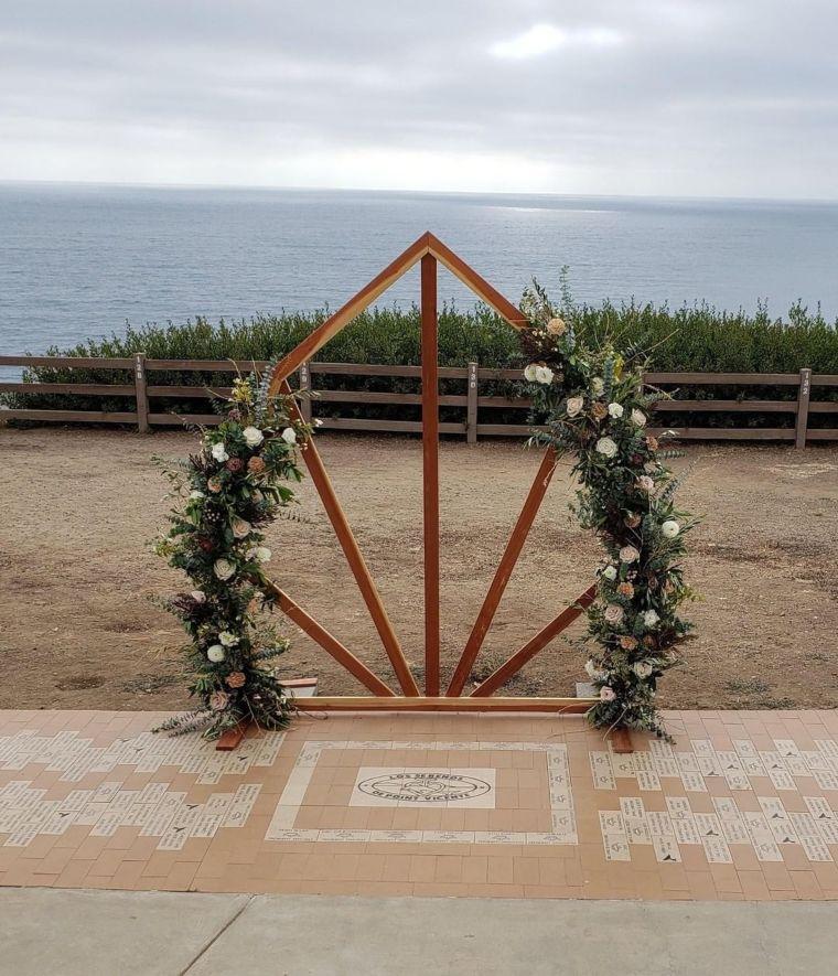 Geometric Floral Arch