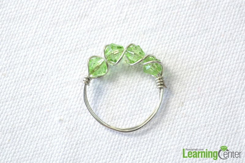 Multi-Bead Wire Wrapped Ring