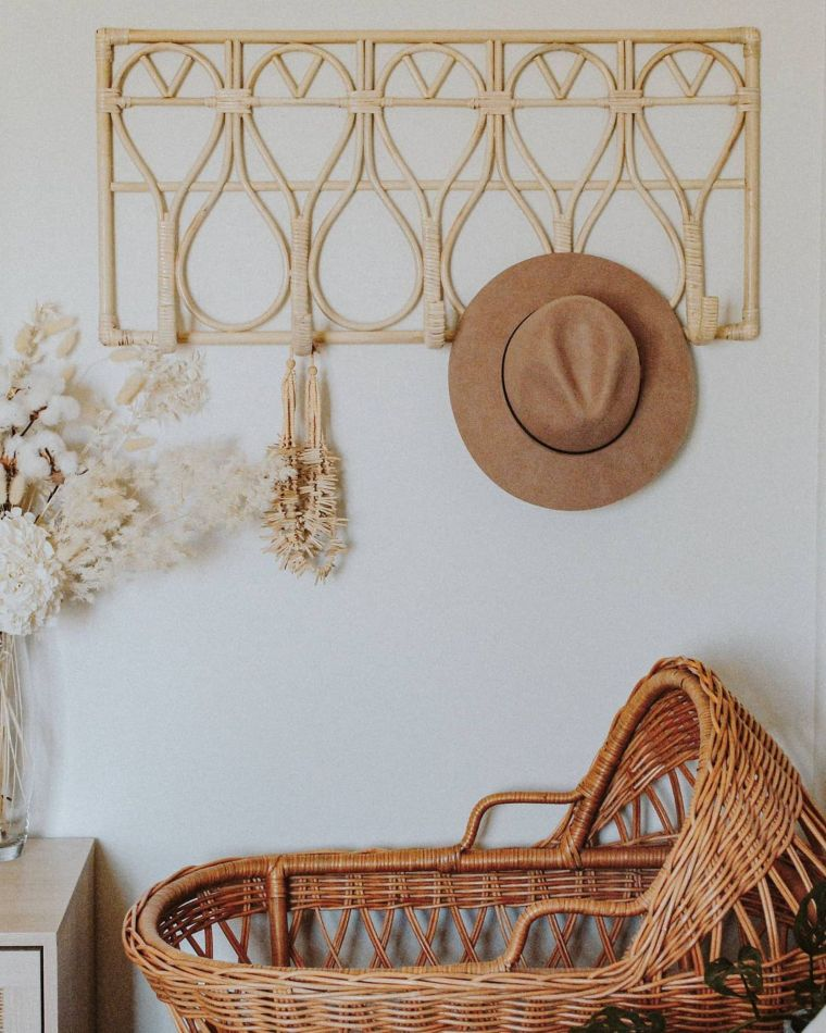 Rattan Hat Rack