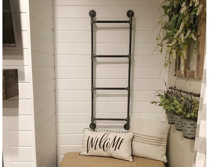 Wall-Mounted Industrial Blanket Ladder